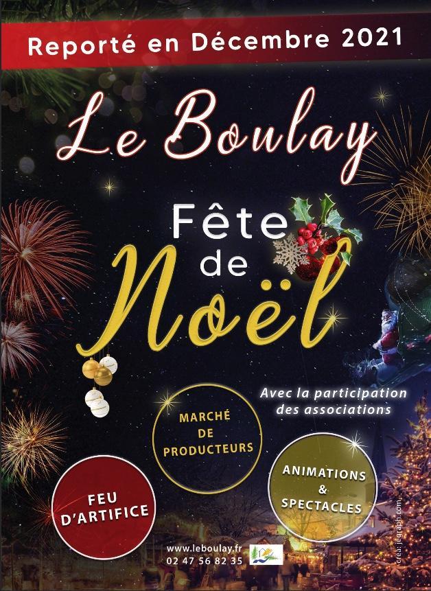 Affiche report fête Noël Le Boulay 2020